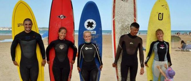 surfing in Spain